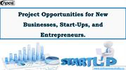 Project Opportunities for New Businesses, Start-Ups