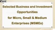 Selected Business and Investment Opportunities