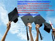Colleges Offering Online Degree Programs with its information.