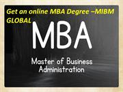Get an online MBA Degree In India