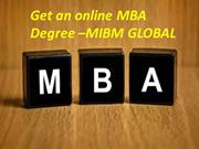 Get an online MBA Degree online certification and training courses