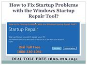18002201041 How to Fix Startup Problems with the Windows Startup Repai