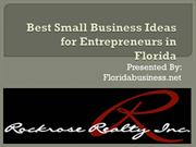 Best Small Business Ideas for Entrepreneurs in Florida