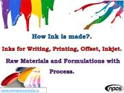 How Ink is made. Inks for Writing, Printing, Offset, Inkjet.