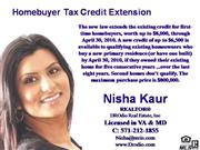 Homebuyer Tax Credit, buying & selling,Nisha Kaur