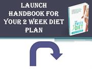 2-week diet and exercise plan