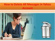 Can I Delete All Emails in Yahoo Mail