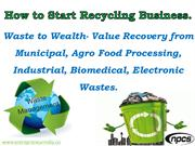 How to Start Recycling Business.