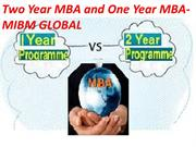 Two Year MBA and One Year MBA-MIBM GLOBAL