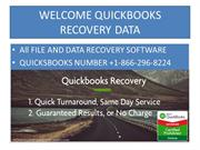 QuickBooks Data Recovery Customer Support 1-866-296-8224