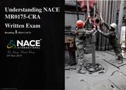 NACE MR0175 CRA Certified User- My Reading 1 (Part 1 of 2)