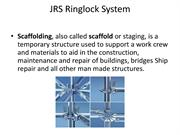 JRS_Ringlock Scaffolds