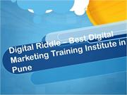 Digital Riddle - Digital Marketing Training, Courses and Institute in