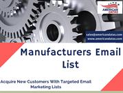 Manufacturers Email List | Manufacturing Industry Mailing List