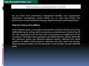 Are You Looking for Benefits of Performance Management System?