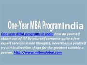 One year MBA programs in India the useful marketplace.