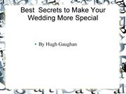 Know Best Wedding Ceremony Secrets  with Hugh Gaughan