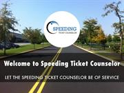 Speeding Ticket Counselor Presentation