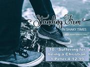 Suffering for being a Christian