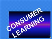 Consumer Learning2