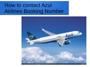 How to contact Azul Airlines Booking Number