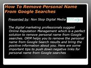 How To Remove Personal Name From Google Searches