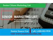 Senior citizen email list  | Marketing list for seniors