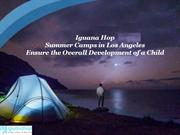 Summer Camps in Los Angeles Ensure the Overall Development of a Child
