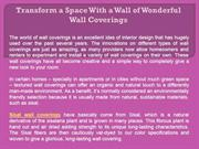 Transform a Space With a Wall of Wonderful Wall Coverings