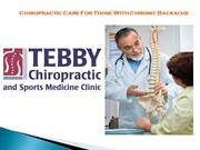 Chiropractic Care For Those With Chronic Backache