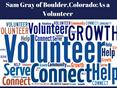 Sam gray of Boulde-as volunteer