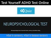Test yourself ADHD Test Online