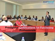 Prestigious Certifications for Purchasing Professionals