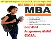 With the availability of the Best MBA Programme