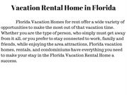 VAcation Rental Home in Florida