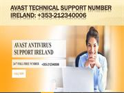 Avast Technical Support Number Ireland: +353-212340006