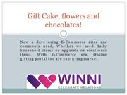 Gift Cake, flowers and chocolates!