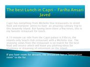 The best Lunch in Capri - Fariha Ansari