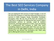 The Best SEO Services Company in India