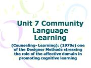 TESOL_Unit 7 Community Language Learning