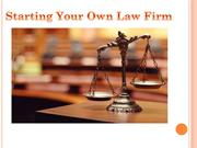 HOW TO MANAGE A SMALL LAW FIRM1