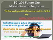 SCI 220 Future Our Mission/newtonhelp.com