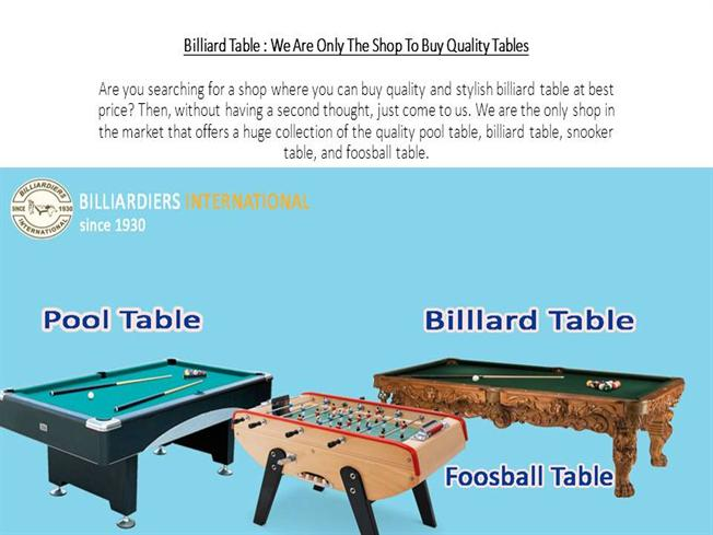 Billiard Table We Are Only The Shop To Buy Quality Tables AuthorSTREAM - Huge pool table