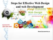 Advance Steps For Effective Web Design and web Development in Edmonton