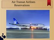 Air Transat airlines flight reservations