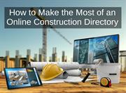 Important Points to Make the Most of an Online Construction Directory
