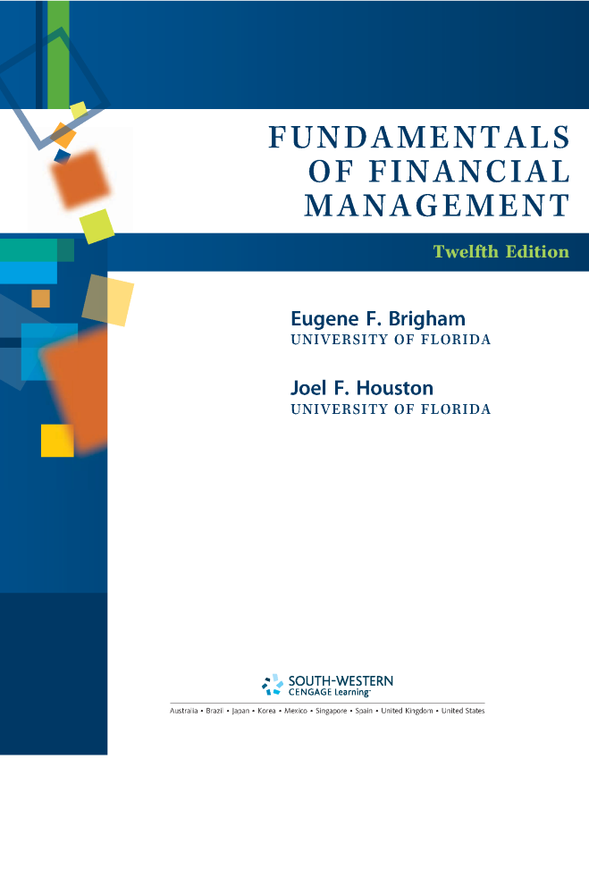 Fundamentalsoffinancialmanagement12thedition by eugene f br fundamentalsoffinancialmanagement12thedition by eugene f brigha fandeluxe Image collections