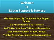 Router support phone number +1800-793-5007