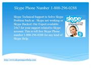 Skype Phone Number 1-800-296-0288 to solve Skype Problem