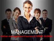 Online management Courses at the senior level